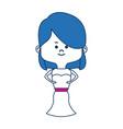 cute cartoon woman pretty elegant clothes vector image