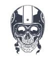 Dotwork Rider Skull vector image