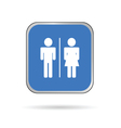 man and woman icon blue and white silhouette vector image