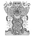 mystic with cross and rose vector image