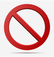 Red prohibition sign vector image