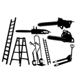 set of tools and ladders vector image