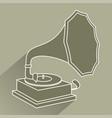 vintage jukebox icon vector image