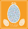 easter card egg from forget-me-nots vector image vector image