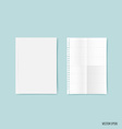 Blank catalog magazinesbook mock up on blue vector image vector image