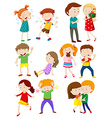 Kids with different emotions vector image