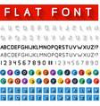 Flat font vector image