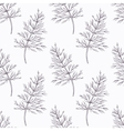 Hand drawn dill branch outline seamless pattern vector image vector image