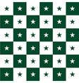 Star Green White Chess Board Background vector image
