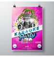 Flyer on a Summer Karaoke Party theme vector image vector image