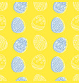 bright seamless pattern with easter eggs vector image
