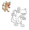 dog coloring pooch vector image