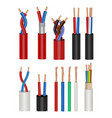 electrical cable icon set vector image