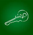Hand draw key vector image