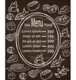 Restaurant cafe menu vintage typographical vector image