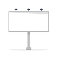 White blank billboard template vector image
