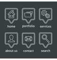 White website menu icons vector image