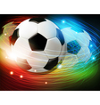Soccer ball with lights and sparks vector image