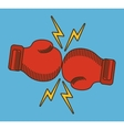 glove red boxing sport design vector image
