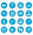 pregnancy icon blue vector image