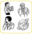 Businessman and businesswoman - set vector image vector image