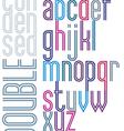 Poster retro double striped font bright condensed vector image