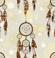 Seamless pattern of American Indians dreamcatcher vector image