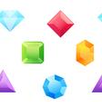Precious gems seamless pattern vector image vector image