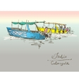 India Calangute Beach sketch drawing with two vector image