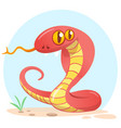 cartoon red snake vector image