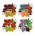 collection of autumn sale and other typography vector image