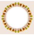 decorative circular autumn ornament vector image