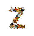 letter z cat font pet alphabet symbol home animal vector image