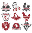 set of chicken meat labels design elements for vector image