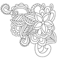 Flower coloring for adults vector image