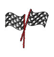 final lap flags icon image vector image