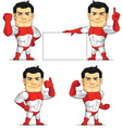Superhero Customizable Mascot 2 vector image