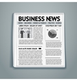 business newspaper vector image vector image