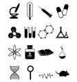 Medical science icons Set vector image