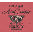 First class air cruise vector image vector image