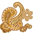 Traditional ornamental background Paisley design vector image
