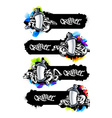 Graffiti Banners Set vector image vector image