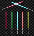 light swords vector image