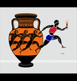 Greek runners vector image vector image