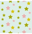 Stars on night sky boy seamless pattern vector image