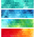 abstract geometric banner set vector image