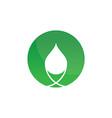 circle eco waterdrop logo image vector image