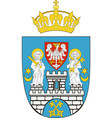 coat of arms of poznan poland vector image