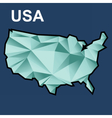 Digital usa map with abstract green vector image