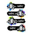 Graffiti Banners Set vector image